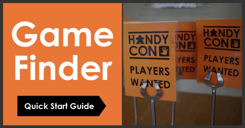 Game Finder Quick Start Guide