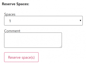 Reserve Spaces